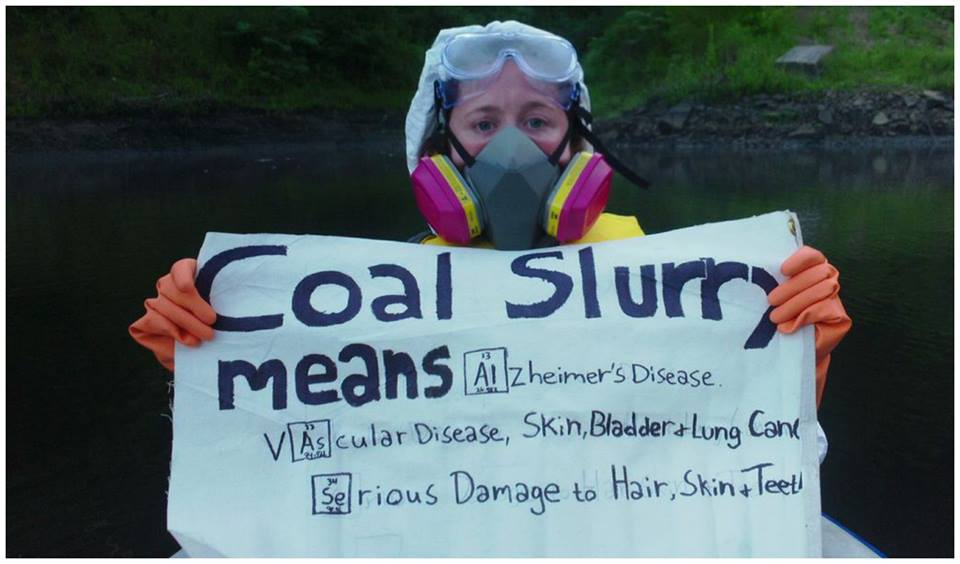 Mountaintop coal mining protestor